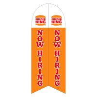 Burger King Now Hiring Feather Flag with Ground Spike