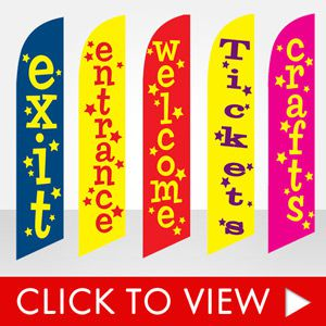 events-carnivals-festivals-and-other-outdoor-events-stock-feather-flags