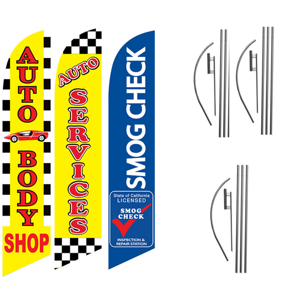 3-PACK-AUTO-BODY-SERVICES-SMMOG-CHECK-MECHANIC-SHOP-FEATHER-FLAGS