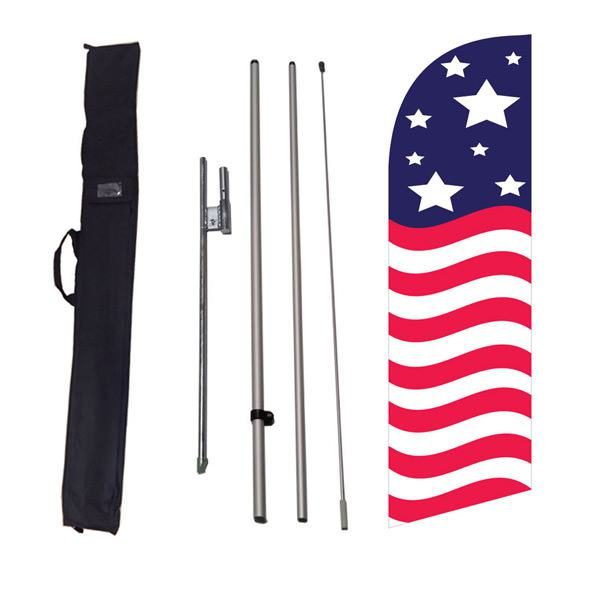 Outdoor advertising small patriotic American glory feather flag
