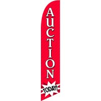Auction Today Feather Flag Kit with Ground Stake