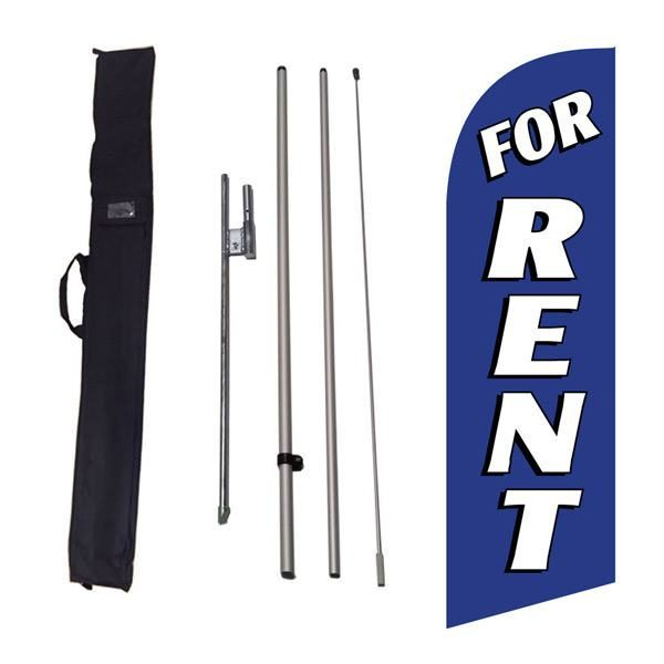 Use this blue For Rent feather flag on your properties front lawn