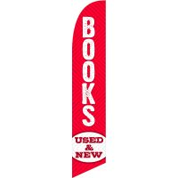 Books Used New Feather Flag Kit with Ground Stake
