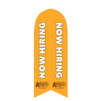 Cracker BarrelNow Hiring Feather Flag with Ground Spike