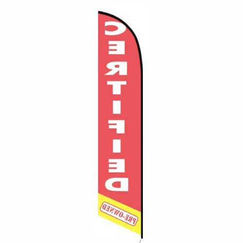 Certified Pre-owned red feather flag