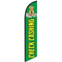 Check Cashing Green Feather Flag