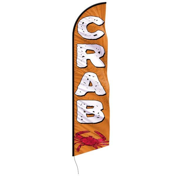 Crabs-feather-flags---custom-12ft-feather-flags