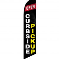 Curbside Pickup Feather Flag FFN-CP-02455