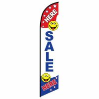 Here Sale Here Feather Flag