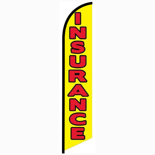 Insurance yellow feather flag