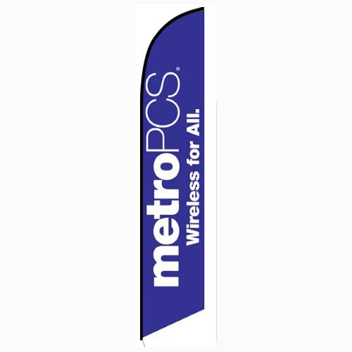 MetroPCS Wireless for All purple Feather Flag