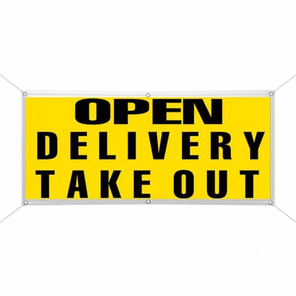 Open Delivery Take Out Banner