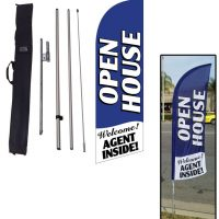 Open House Blue 6ft Feather Flag