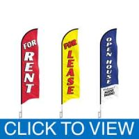 6ft Real Estate Open House Feather Flags