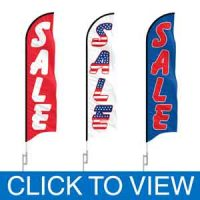 SALE Advertising Feather Flags in Stock