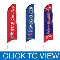 Smog Check Stations Feather Flags in Stock
