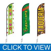 Spanish Feather Banners Flags