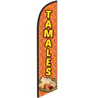 Tamales Feather Flag Banner