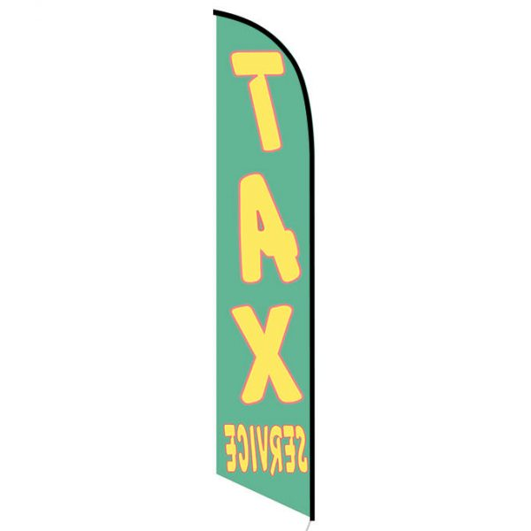 Tax Service feather flag green