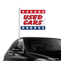 Used Cars patriotic Window Clip-on Flags