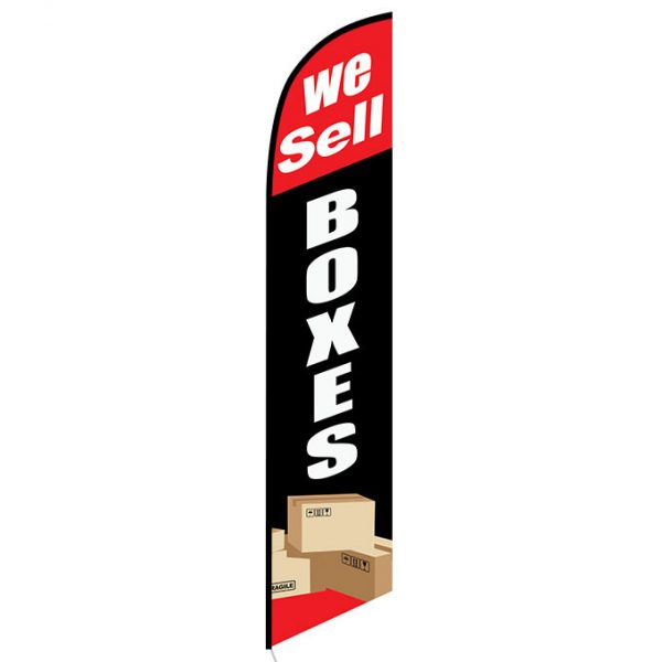 We Sell Boxes banner flag