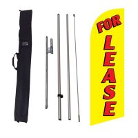 For Lease yellow 6ft Flag