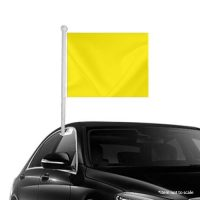 Solid Yellow Window Clip-on Flag