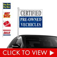 Used Auto Dealership Window Clip-on Flags