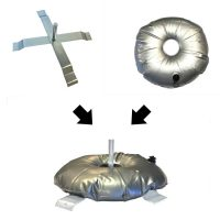 Cross-base X-stand with Weight Donut for 6ft and 8ft Flag Kits