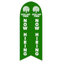Dollar Tree Now Hiring Feather Flag with Ground Spike