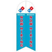 Domino's Pizza Now Hiring Feather Flag with Ground Spike
