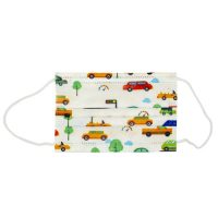 Disposable Non-Medical 3-Ply Kid's Face Mask with Earloop Cars 50ct