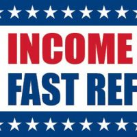 Income Tax Fast Refund Sign Banner Arrow Left 4X8