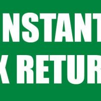 Instant Tax Returns Sign Banner 4X8