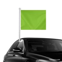 Solid Light Green Window Clip-on Flag