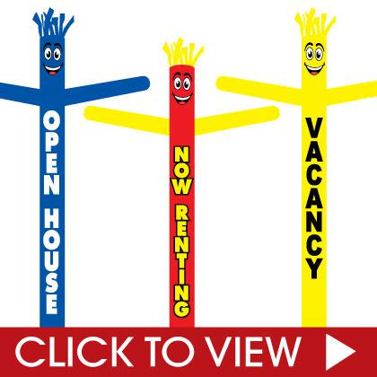 Real estate, Apartments, and Open House Inflatable Tube Men