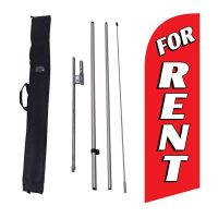 For Rent 6ft Feather Flag