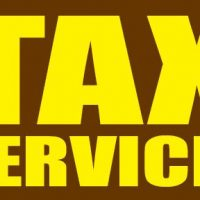 Tax Services Sign Banner 4×8