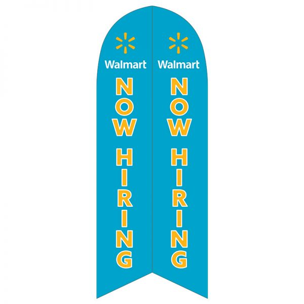 walmart now hiring feather flag outdoor business advertising