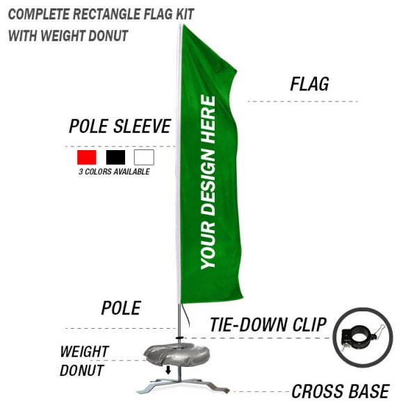 wind waiver feather banner swooper custom flag kit with cross stand base